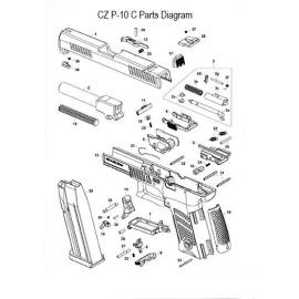 Kołek zatrzasku magazynka CZ P-10C