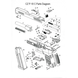 Szyna spustowa CZ P-10C