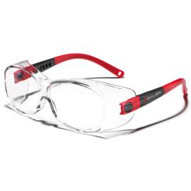Okulary ZEKLER 25 bezbarwne, oprawki czarno-czerwone