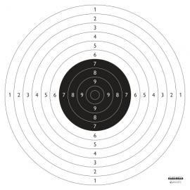 Tarcza pistolet sportowy, papier, 52x55