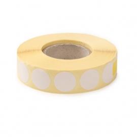 Zaklejki samoprzylepne do tarcz, 20 mm, kolor biały, 1000 szt.