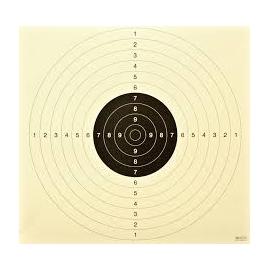 Tarcza pistolet sportowy, karton LUX, 52x55