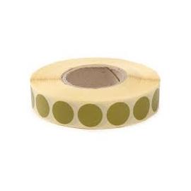 Zaklejki samoprzylepne do tarcz, 20 mm, kolor zielony, 2000 szt.